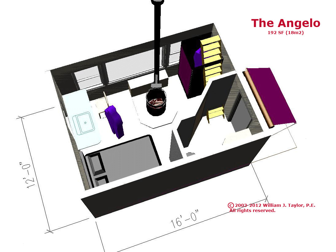 The Angelo, affordable open, plan, small footprint, passive
